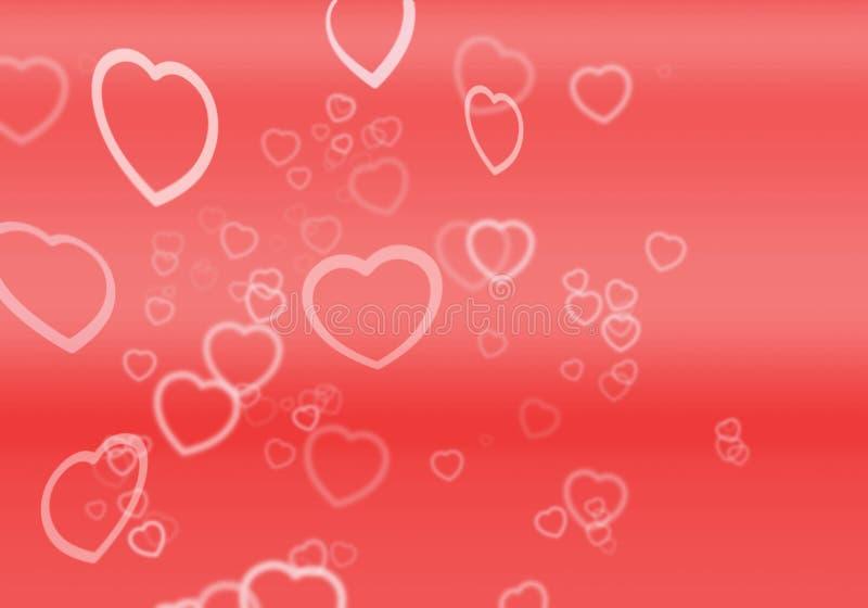 Cuori Per I Biglietti Di S. Valentino Immagini Stock Libere da Diritti