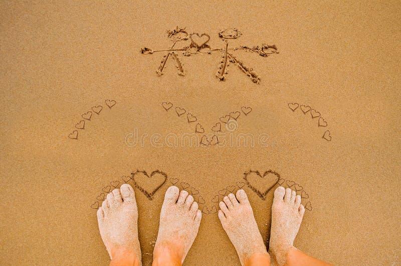 Cuori romantici di amore il giorno dei biglietti di S. Valentino fotografia stock