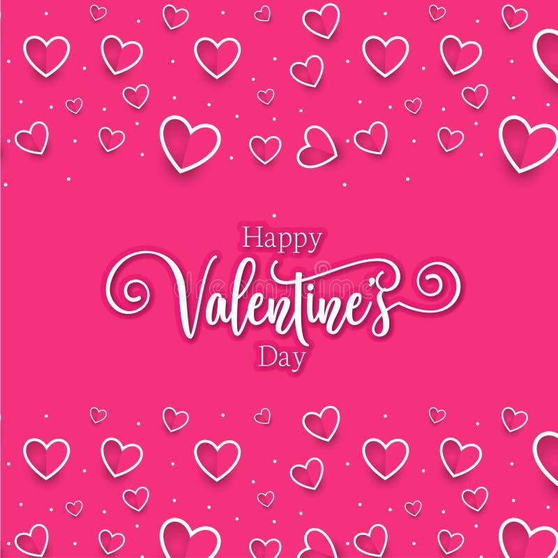 Cuori romantici svegli valentine' fondo del modello di giorno di s fotografia stock