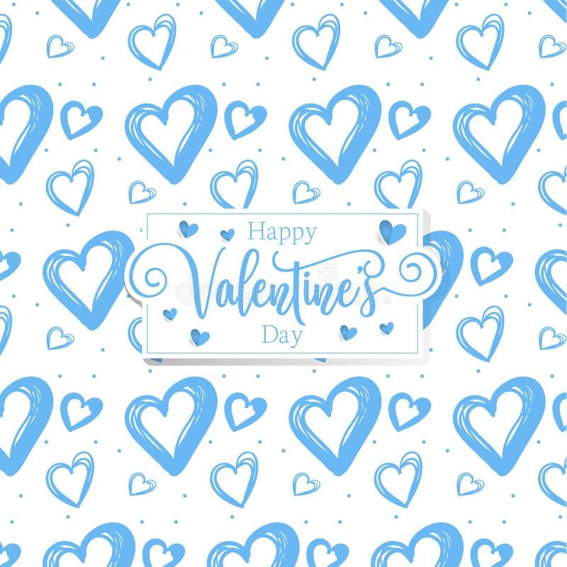 Cuori romantici svegli valentine' fondo del modello di giorno di s immagine stock