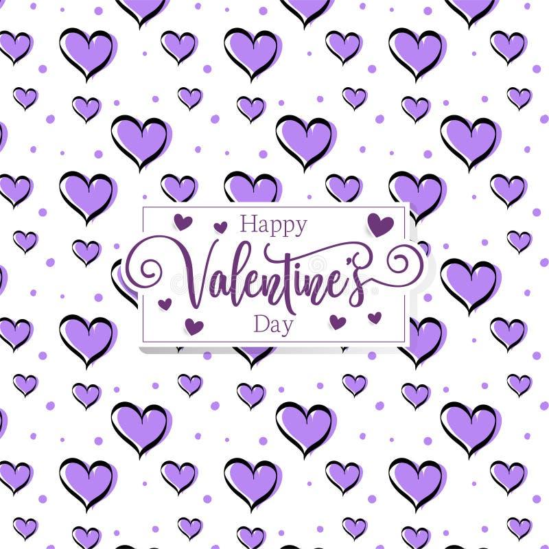 Cuori romantici svegli valentine' fondo del modello di giorno di s fotografie stock libere da diritti