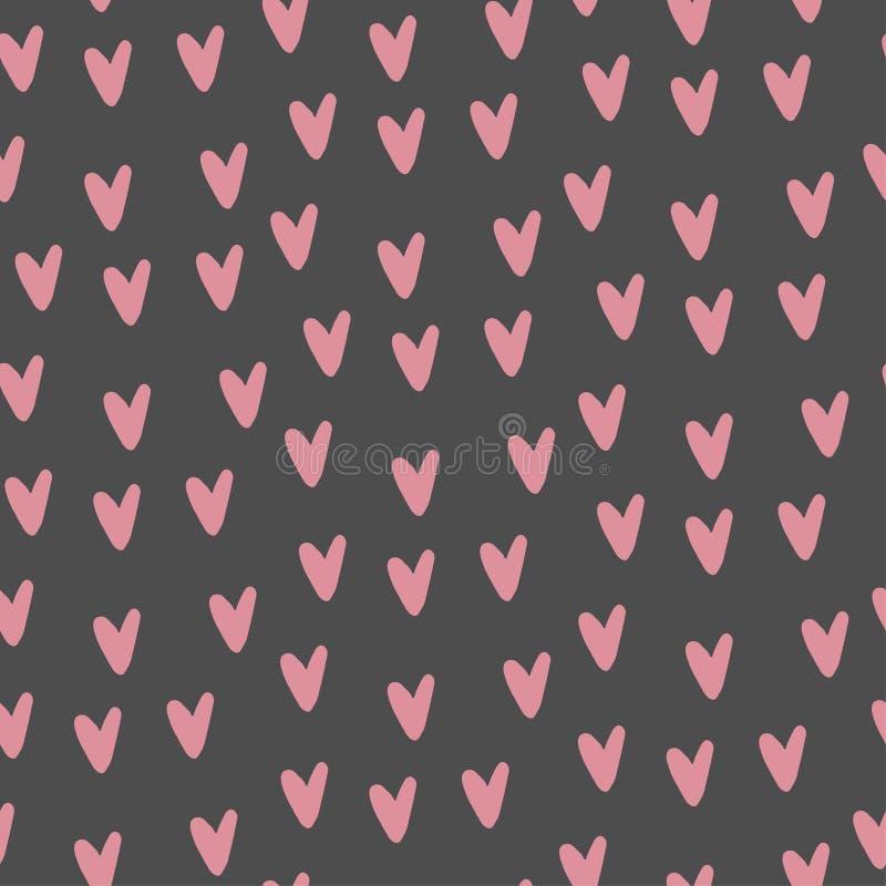 cuori rosa su un fondo grigio illustrazione di stock