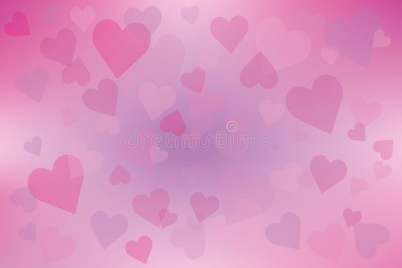 Cuori rosa sul rosa pastello royalty illustrazione gratis