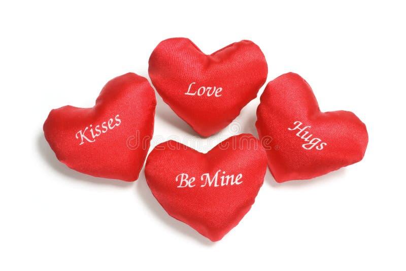 Cuori rossi di amore fotografie stock libere da diritti