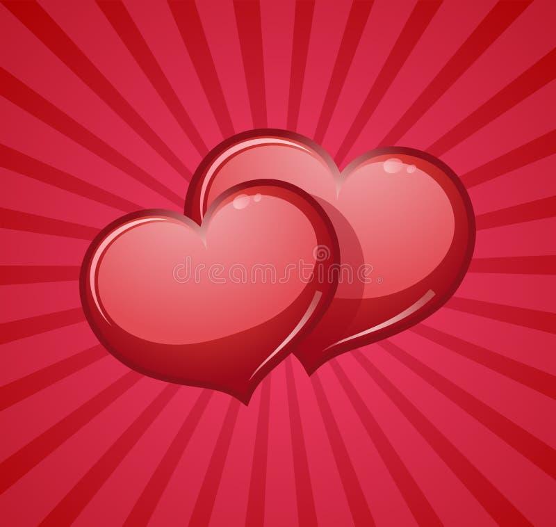 Cuori rossi di amore illustrazione vettoriale immagine di for Immagini di cuori rossi