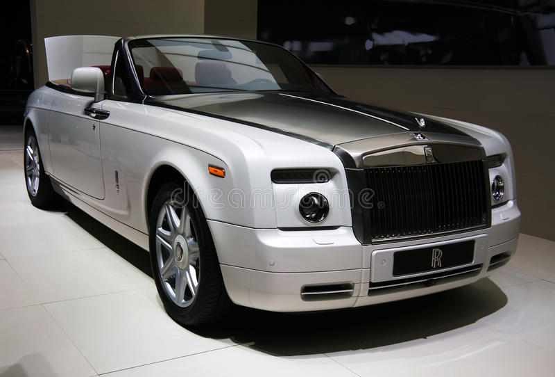 Cupé fantasma de Rolls Royce Drophead imágenes de archivo libres de regalías