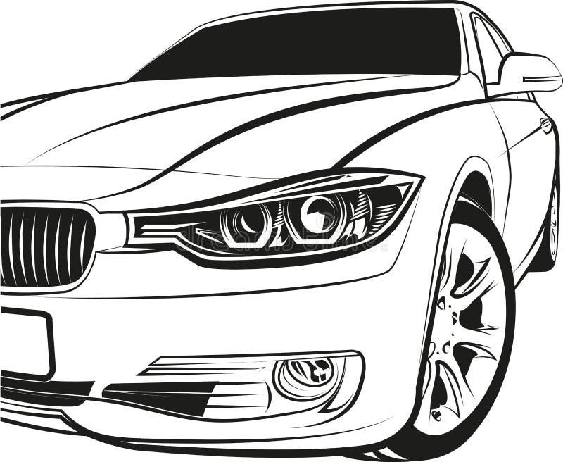 Cupê do carro ilustração do vetor