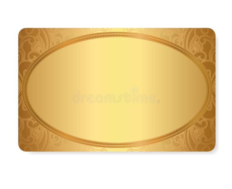Cupón del regalo del oro, tarjeta del regalo/del descuento/te del boleto libre illustration