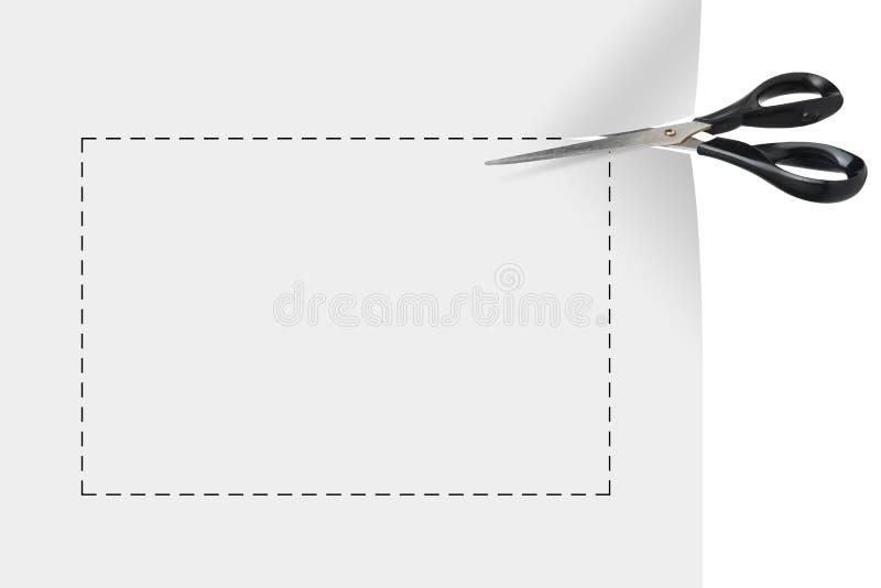 Cupón en blanco ilustración del vector