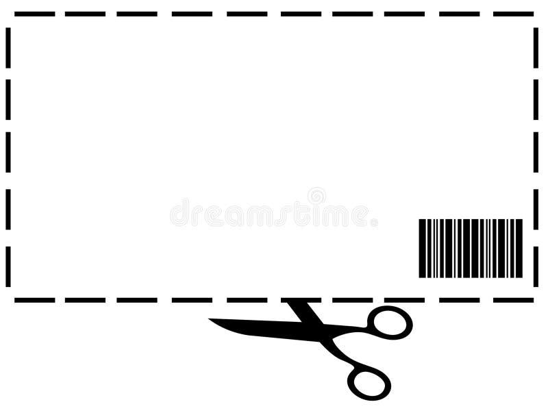 Cupón en blanco stock de ilustración