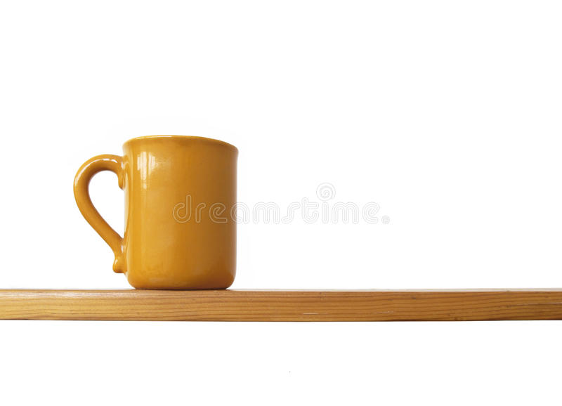 Cup Auf Regal Lizenzfreie Stockfotografie