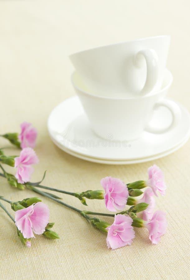Cup auf Tabelle stockbilder