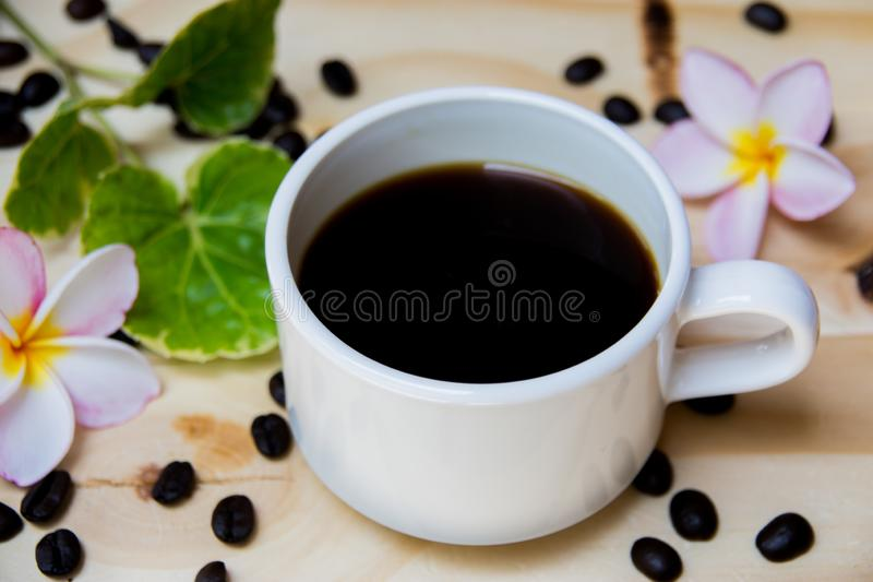 A cup of back coffee royalty free stock image