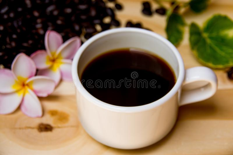 A cup of back coffee stock photo