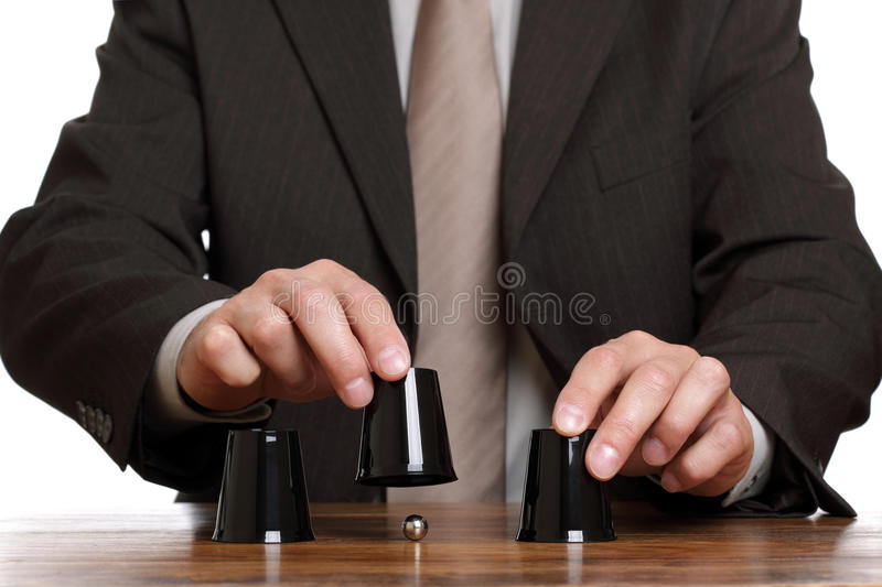 Download Cup And Ball Guessing Game Stock Photography - Image: 21519872