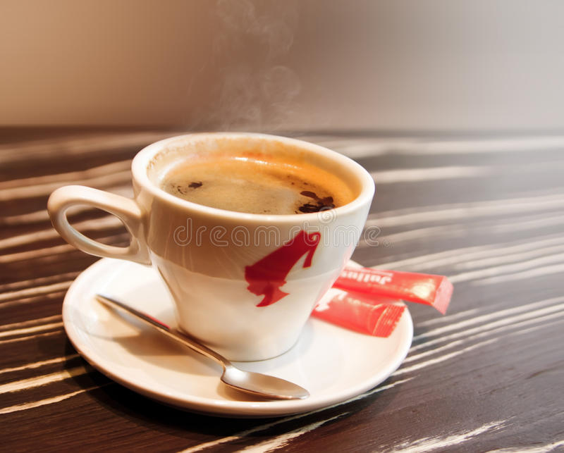 Download Cup of black coffee stock image. Image of saucer, drink - 21247243
