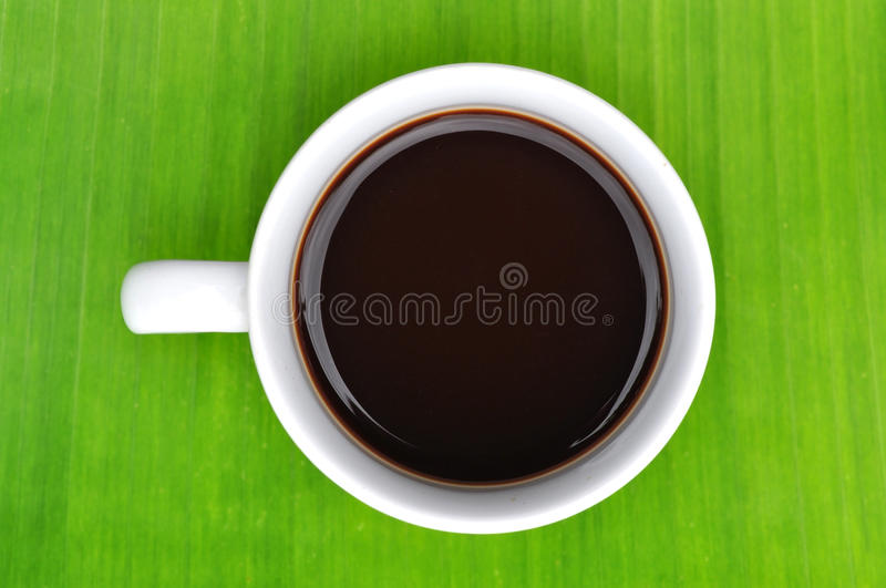 A cup of black coffee stock photography