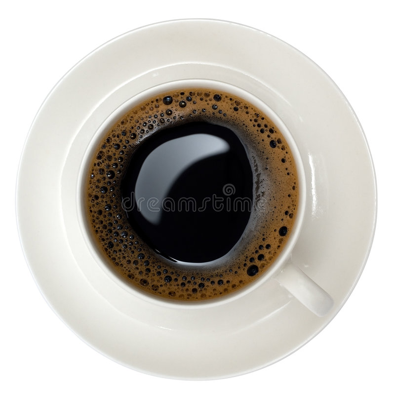 Download Cup of black coffee stock photo. Image of froth, clipping - 5205608