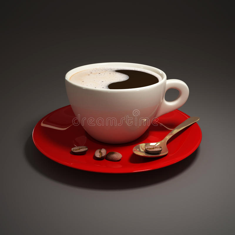 Cup of black coffee stock illustration