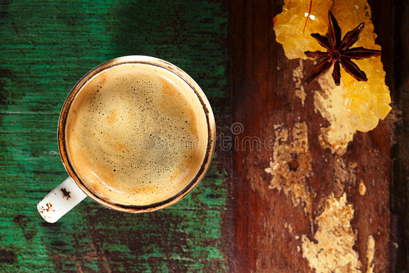 A cup of black coffee royalty free stock image