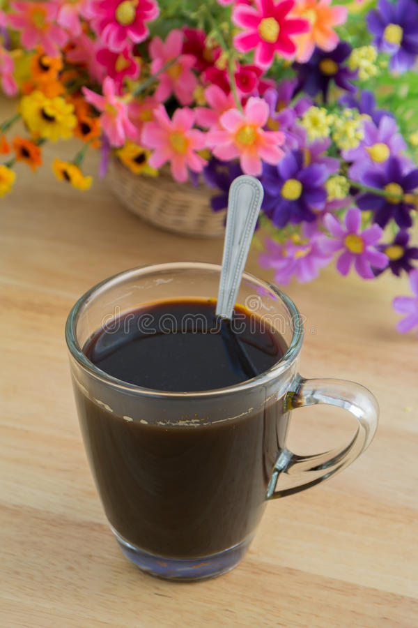 Download Cup of black coffee stock image. Image of flavour, healthy - 35829431