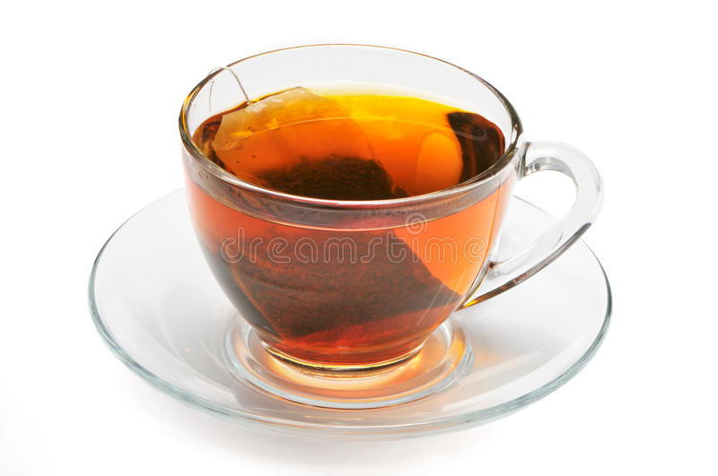 Cup with black tea royalty free stock photos