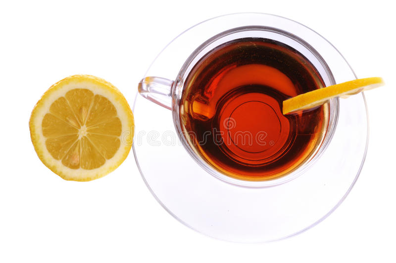Download A Cup Of Black Tea With Lemon Stock Image - Image: 11260401