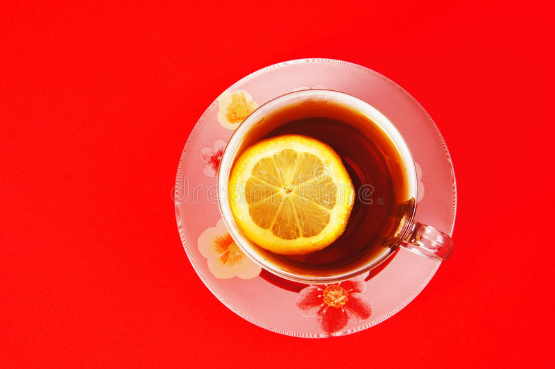 Cup Of Black Tea With A Lemon Royalty Free Stock Image