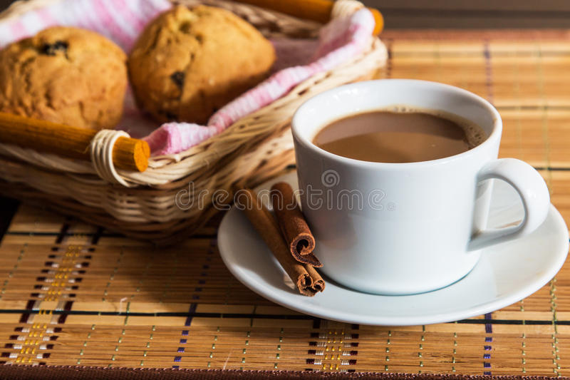Cup of cacao royalty free stock image