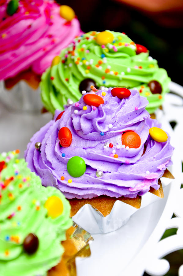 Download Cup cake stock image. Image of orange, miniature, chic - 24349165