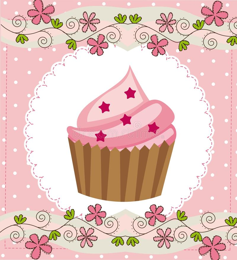 Cup cake royalty free illustration