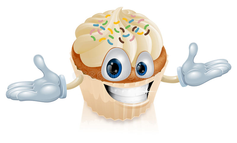 Cup Cake Mascot Illustration Royalty Free Stock Photography