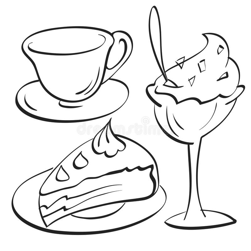 Download Cup, Cake, sundae stock vector. Image of illustrations - 32389442