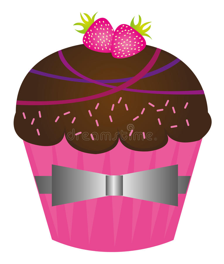 Cup cakes stock illustration