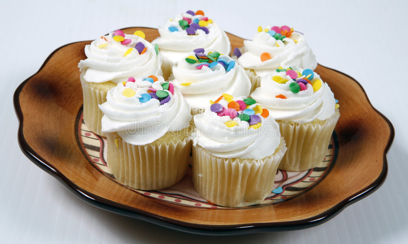 Cup cakes stock photo