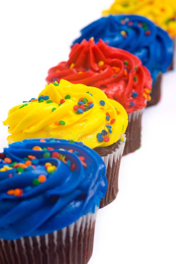 Cup Cakes on White royalty free stock image