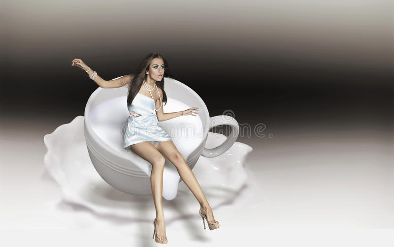 Download Cup of cappuccino stock photo. Image of morning, clean - 13360638