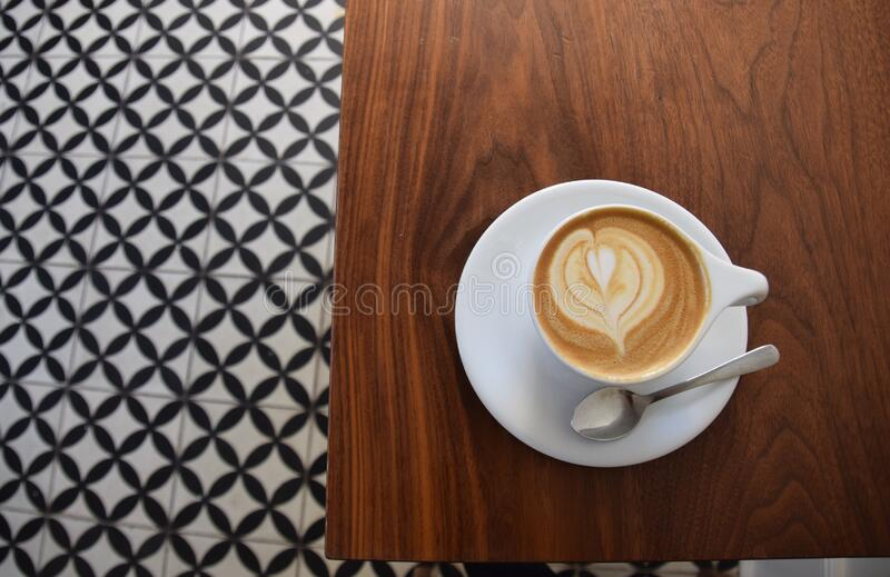 Cup of cappuccino coffee stock photos