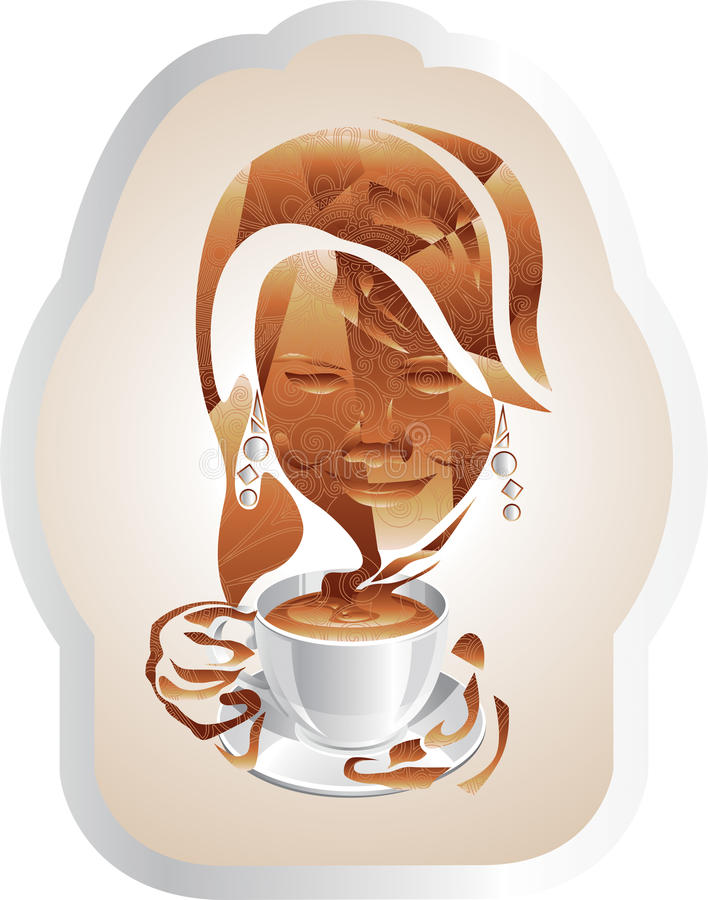 A Cup Of Cappuccino Stock Illustration