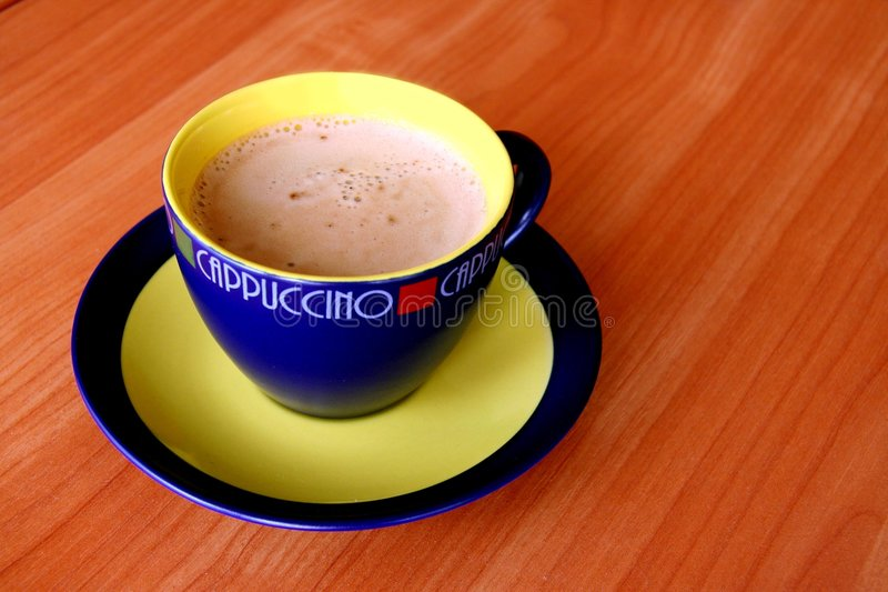 A cup of capuccino. stock photos