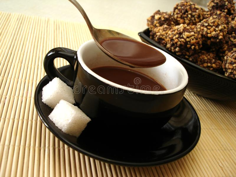 Cup of chocolate royalty free stock image