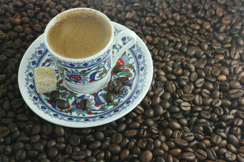 Download Cup with coffee stock photo. Image of drinks, heat, grained - 12242458