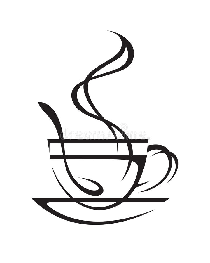 Download Cup of coffee stock vector. Illustration of icons, coffee - 15614393