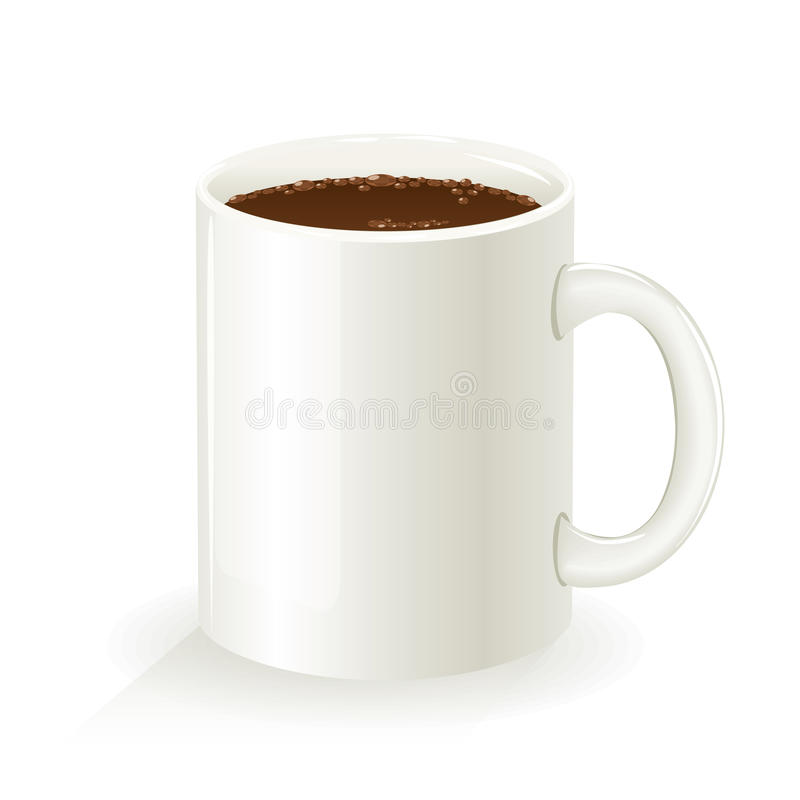 Download Cup of coffee stock vector. Image of chocolate, isolated - 16202163
