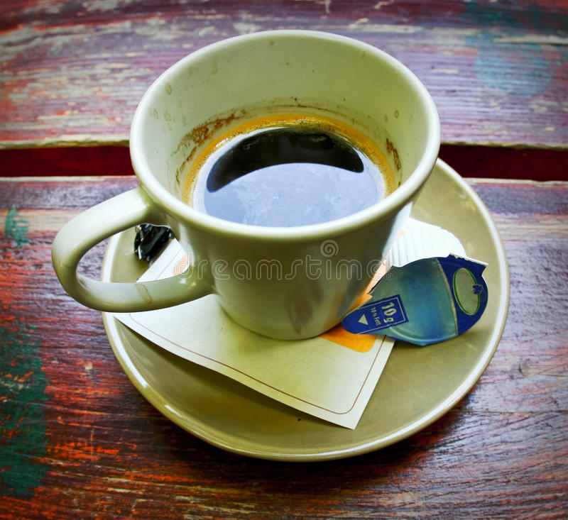 Download Cup of coffee stock photo. Image of drink, plank, counter - 19407596