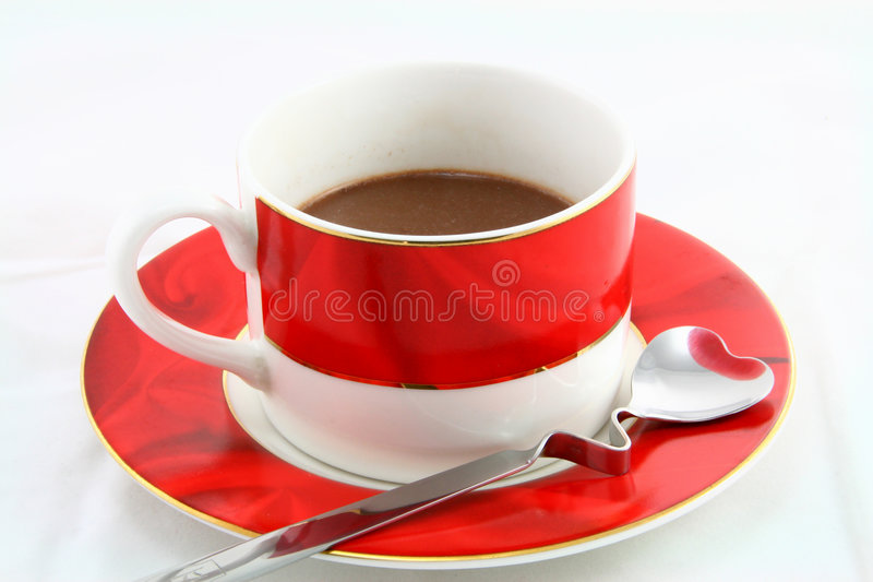 Cup of Coffee. On white background royalty free stock images