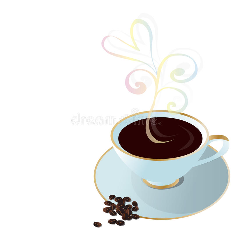 Download Cup of coffee stock vector. Illustration of drink, flavor - 23812059