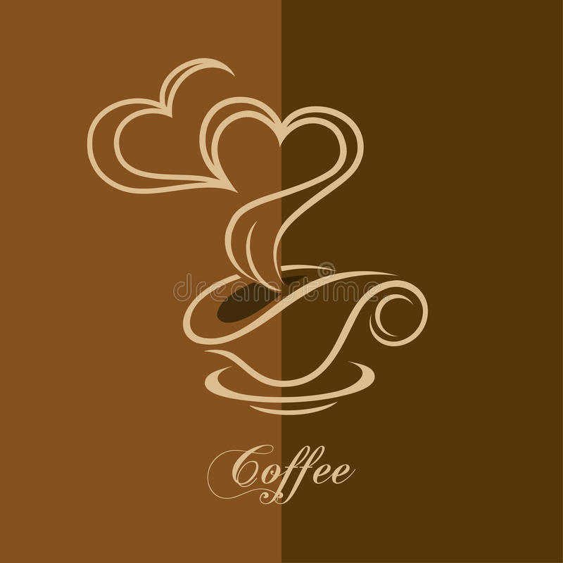 Download Cup of coffee stock vector. Image of cream, cafe, aroma - 26503120