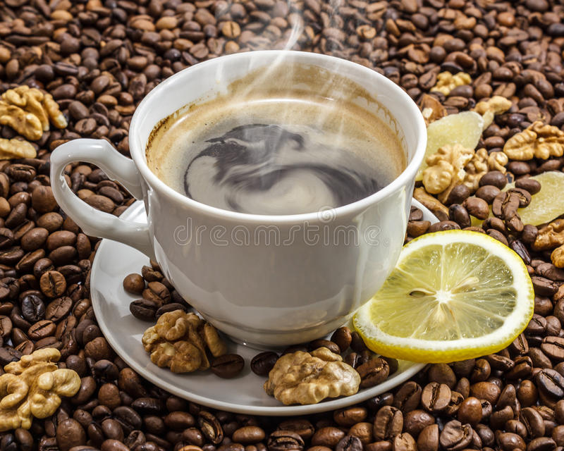 Download Cup of coffee stock image. Image of dark, coffee, caffeine - 26558183