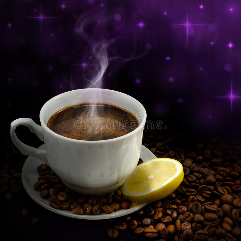 Download Cup of coffee stock photo. Image of mirror, background - 26558238